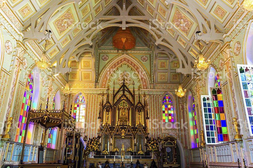 Church of Niwet Dhamma Prawat Temple, Ayutthaya Province, Thailand stock photo