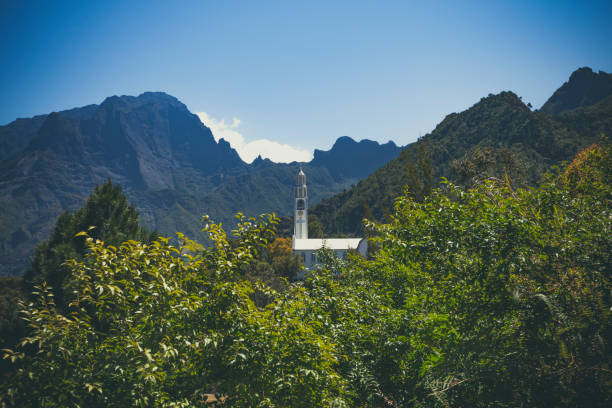 Kirche Notre Dame des Neiges in Cilaos Dorf, La Réunion, Frankreich – Foto