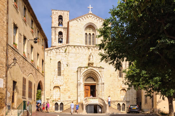 Church of Notre Dame du Puy - Grasse stock photo