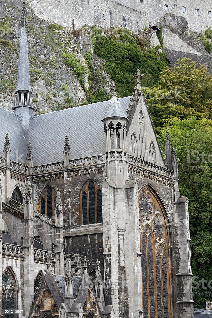 Church of Notre-Dame in Dinant stock photo