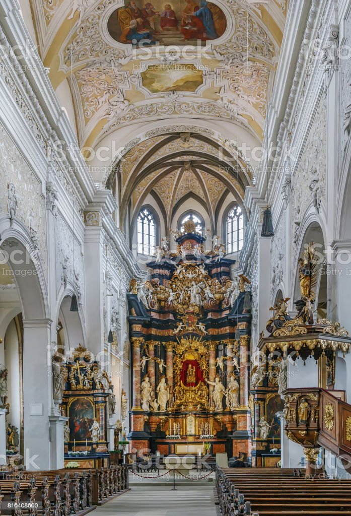 Church of Our Lady, Bamberg, Germany. Interioir stock photo