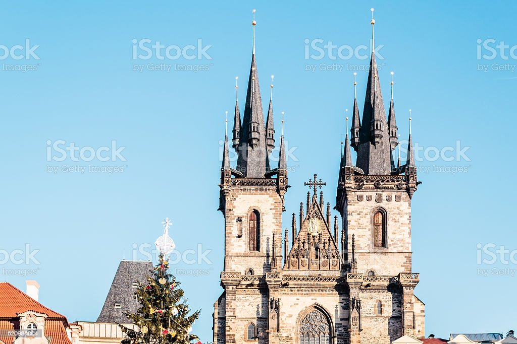 Church of Our Lady before Tyn at Prague, Czech Republic foto royalty-free