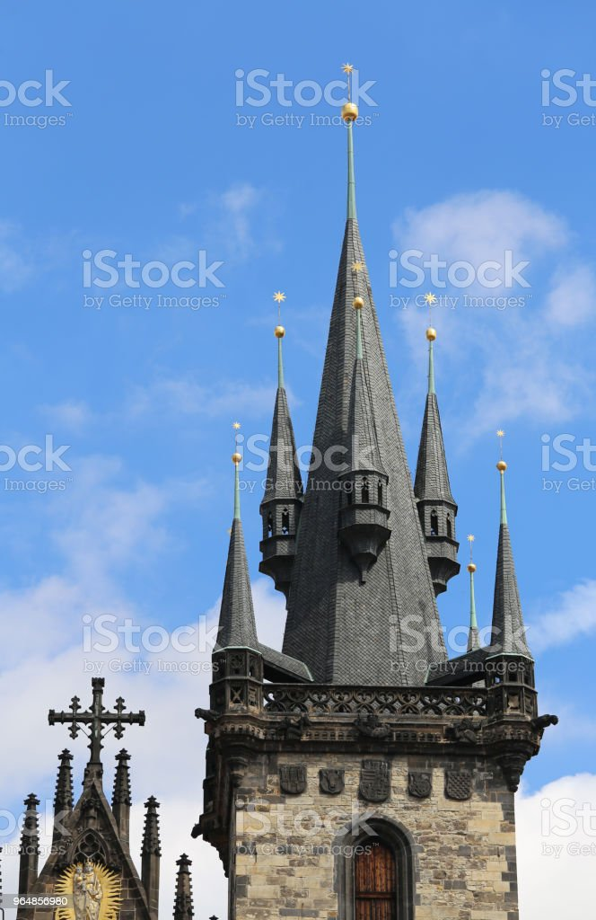 Church of Our LAdy Before Tyn in Prague royalty-free stock photo