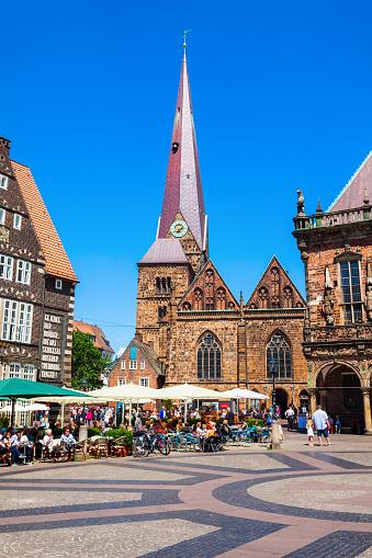 Imagen De El Ayuntamiento De Bremen O El Rathaus Fotografía De Stock