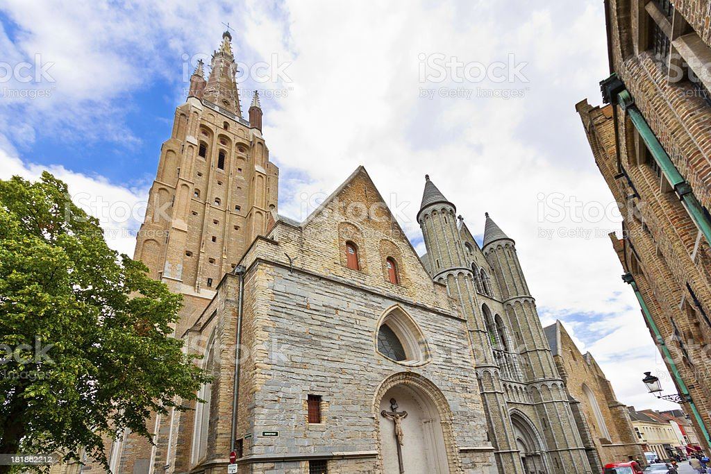 Church of Our Lady in Bruges. royalty-free stock photo
