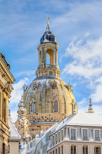 Church of our Lady in Dresden in winter – Foto