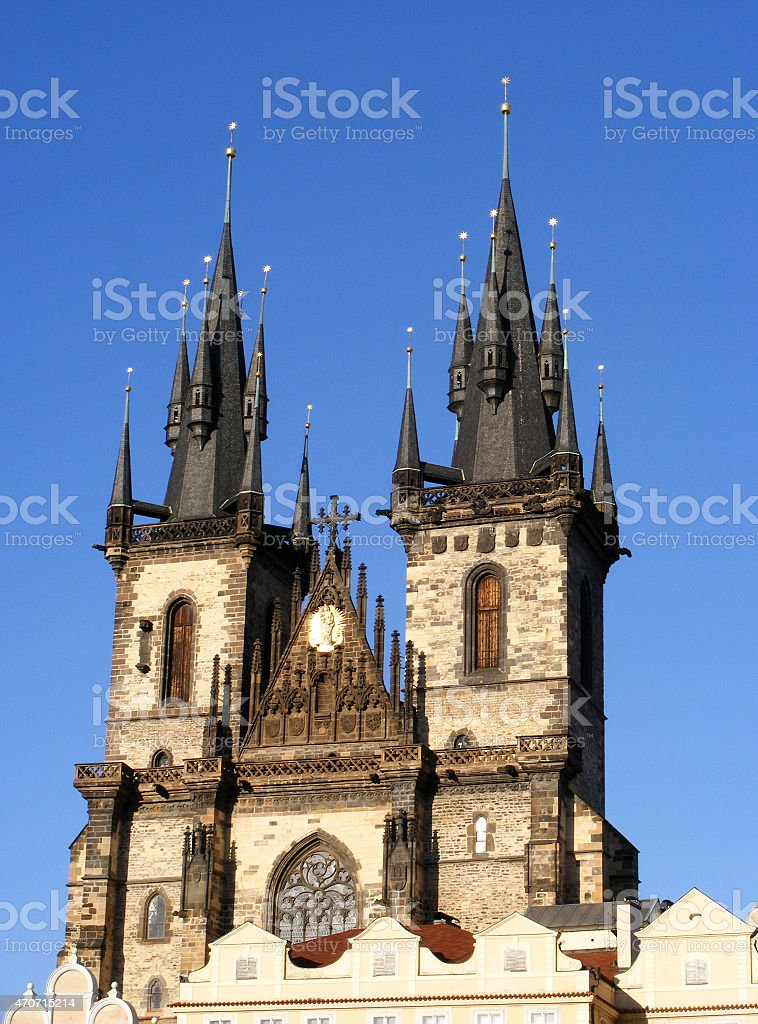 Church Of Our Lady In Front Of Tyn in Prague stock photo
