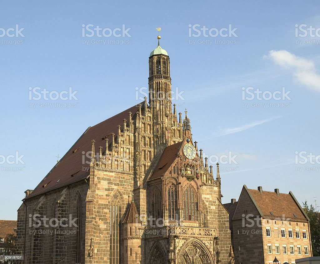 Church of Our Lady in Nuremberg Germany royalty-free stock photo