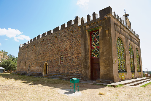 istock Church of Our Lady Mary of Zion, the most sacred place for all Orthodox Ethiopians in Aksum, Ethiopia. 858575816