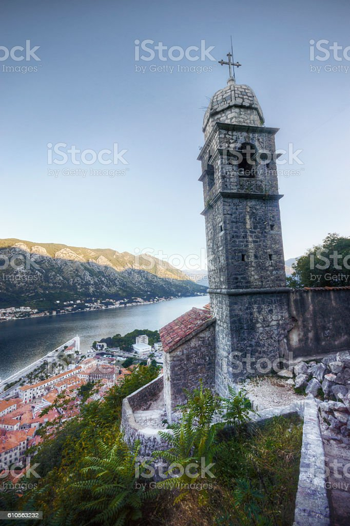 Church of Our Lady of Remedy, Kotor Montenegro stock photo