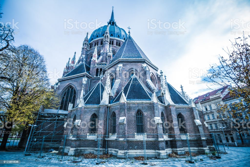 Church of Our Lady Victorious (Kirche Maria vom Siege) in Vienna Austria stock photo