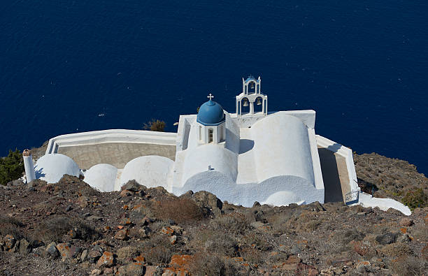 Church of Panagia theoskepasti stock photo