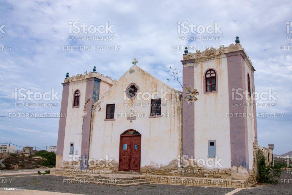 Church of Rabil, Boa Vista Cape Verde stock photo