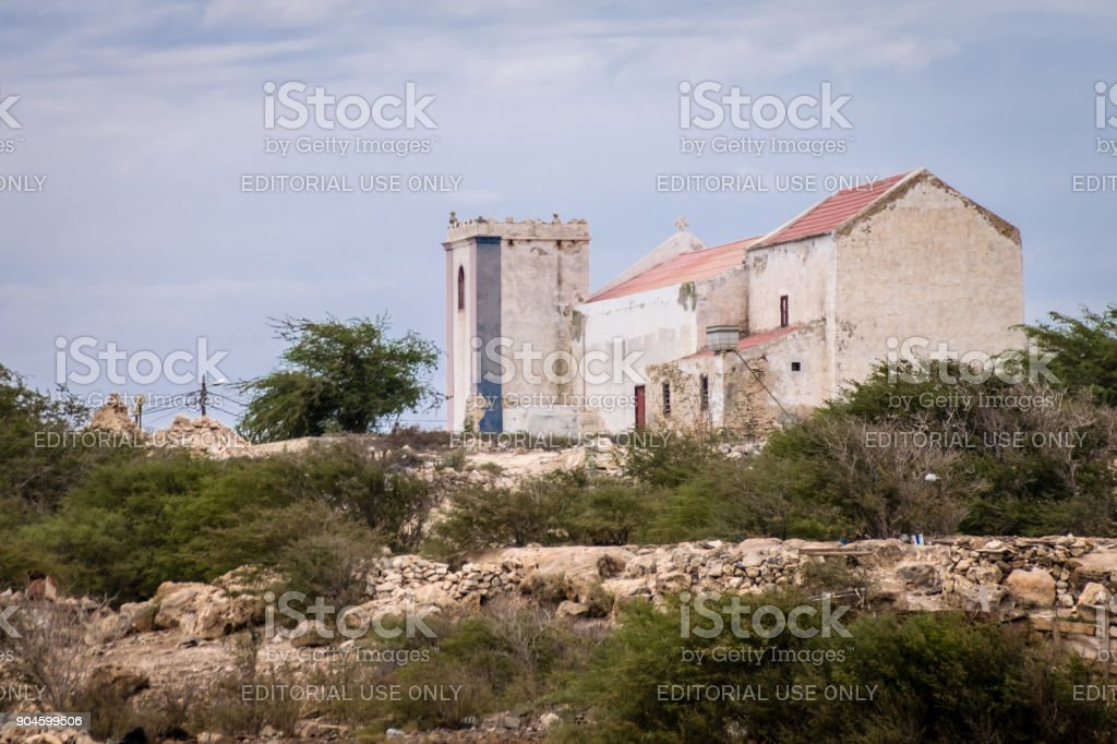 Church of Rabil stock photo