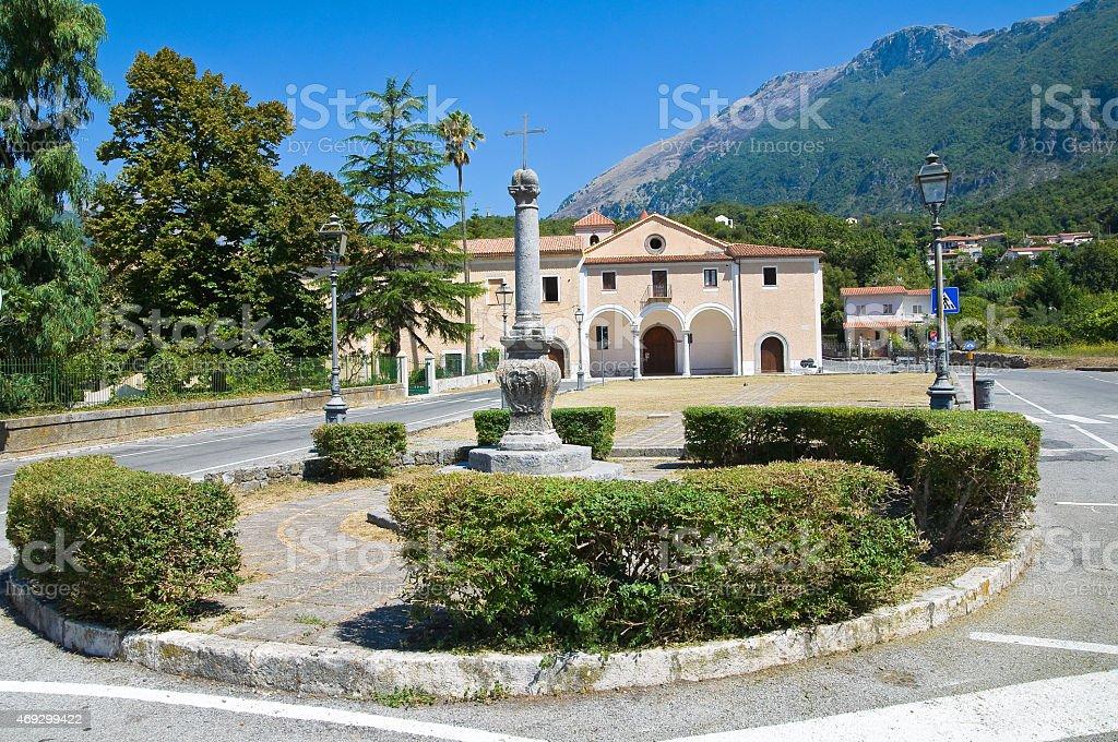 Church of Rosary. Maratea. Basilicata. Italy. stock photo