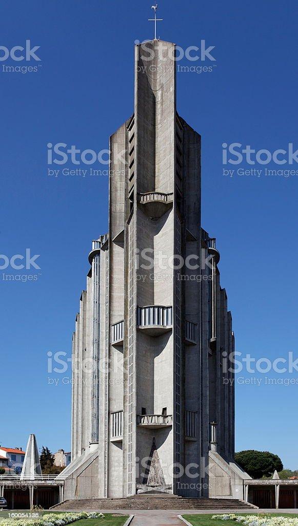 Church of Royan stock photo