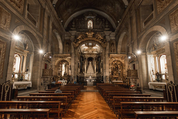 Church of Saint Anthony in Porto stock photo