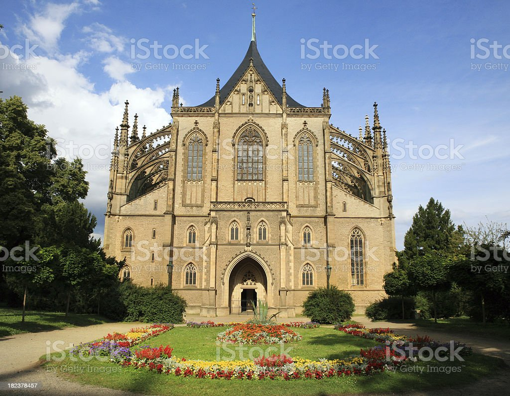Church of Saint Barbara Czech Republic stock photo