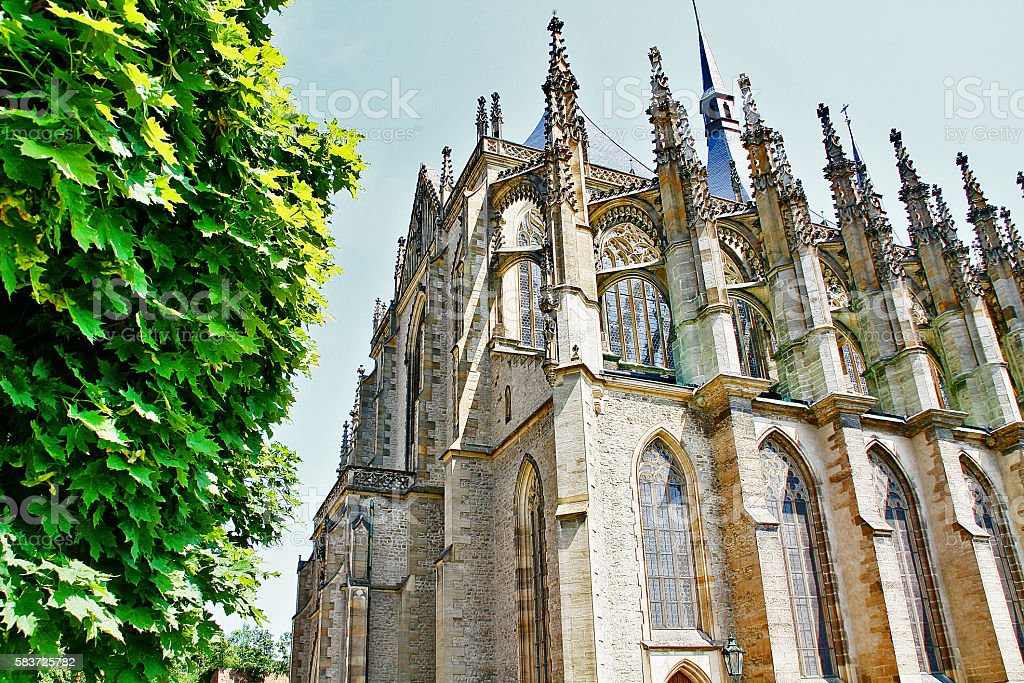 Church of Saint Barbara, Kutna Hora, Czech Republic, Bohemia region stock photo