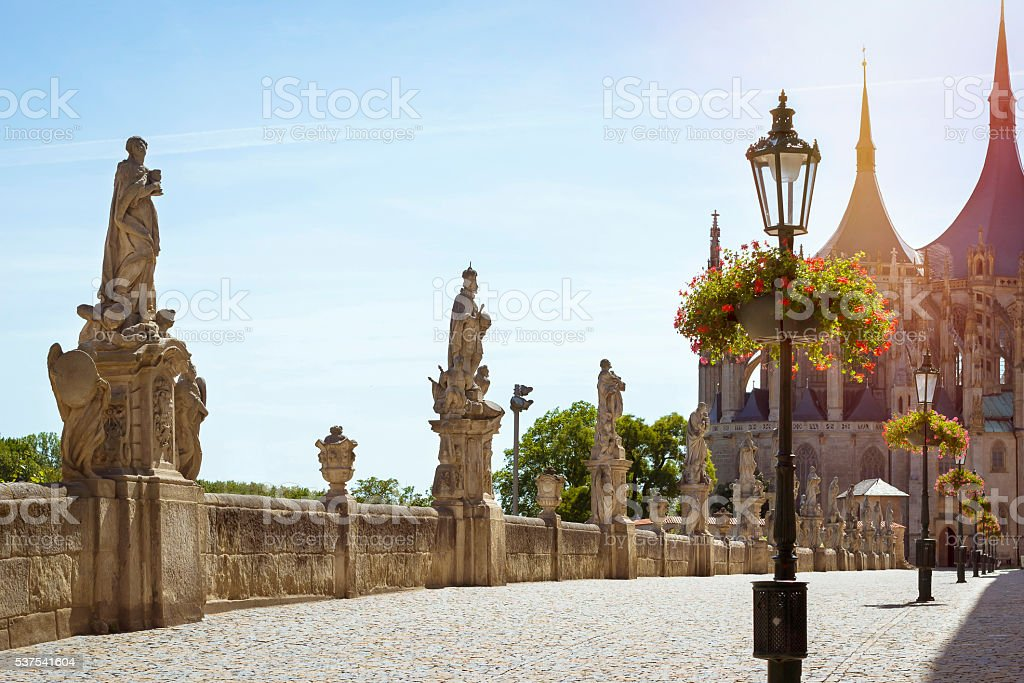 Church of Saint Barbara. Kutna Hora, Czech Republic stock photo