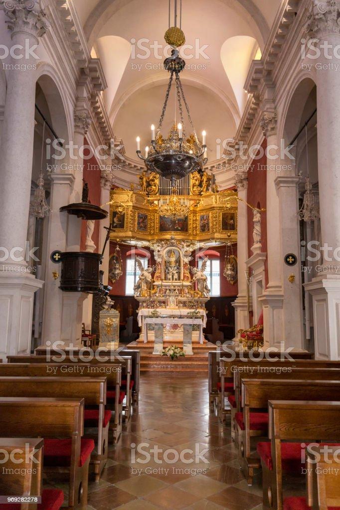 Church of Saint Blaise Interior stock photo