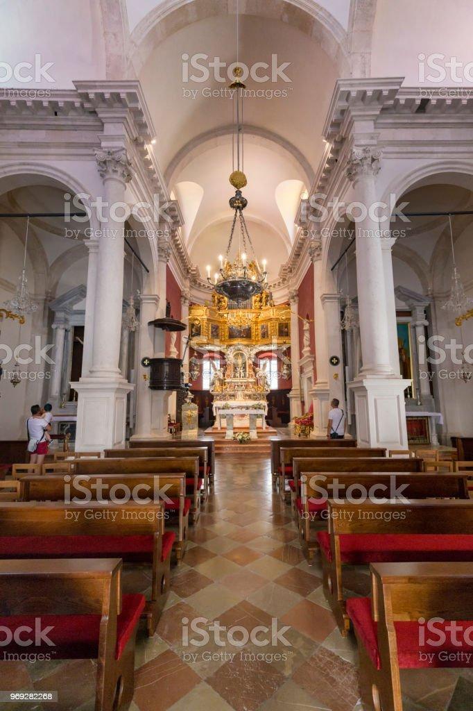 Church of Saint Blaise Portrait stock photo