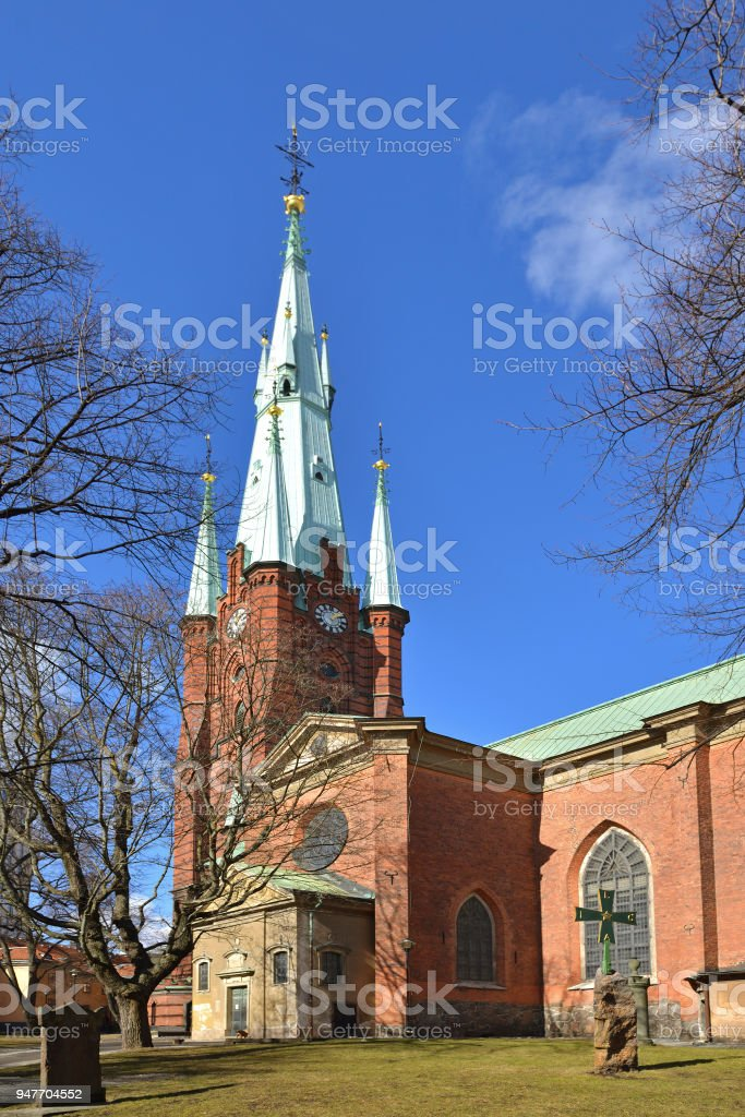 Church of Saint Clare or Klara Church in central Stockholm. Construction of current church started in 1572 under Johan III stock photo