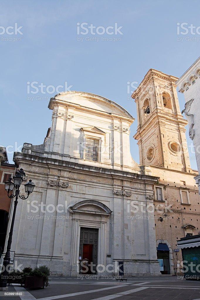 Church of Saint Domenico in Chieti (Italy) stock photo