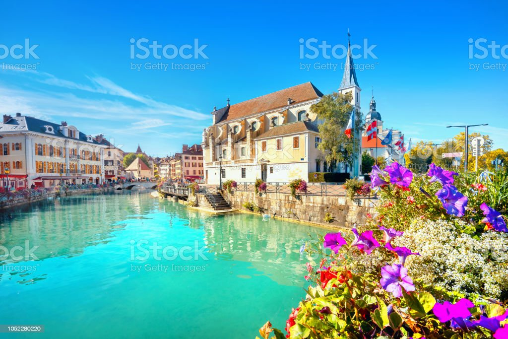 Church of Saint Francois de Sales in Annecy. France stock photo
