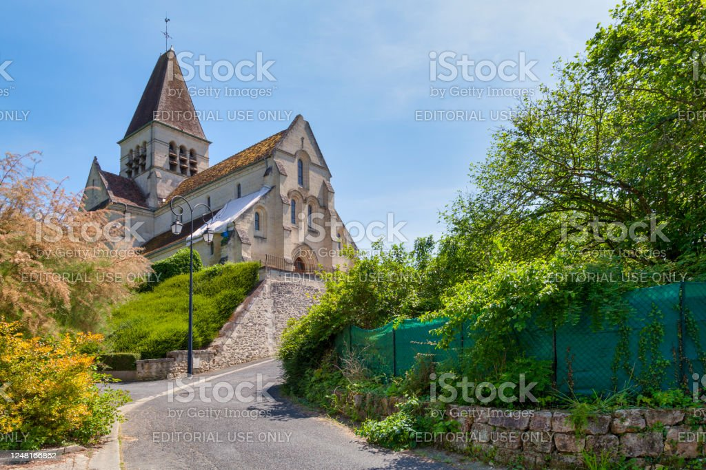 Church of Saint Martin in Cuise-la-Motte - Royalty-free Architecture Stock Photo