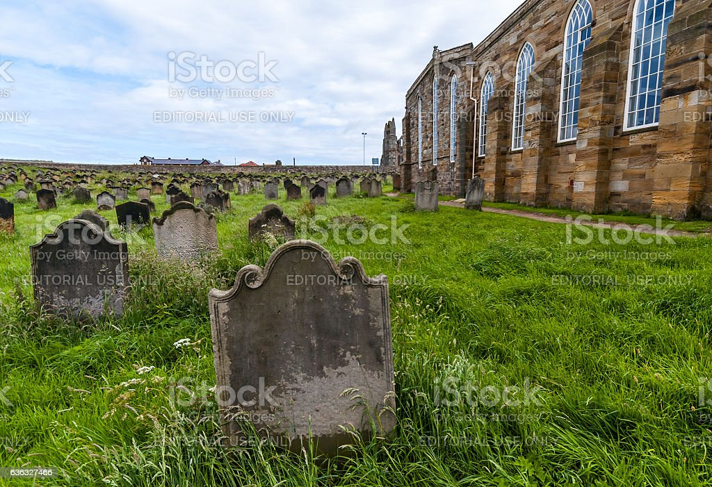 Church of Saint Mary, Whitby stock photo