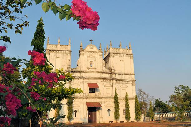 Church of Saint Mathias, Divar island, Old Goa, India stock photo