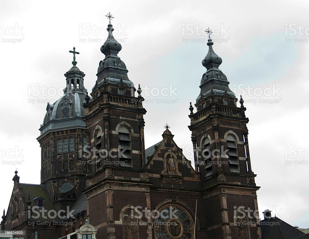 Church of Saint Nicholas in Amsterdam, Netherland royalty-free stock photo