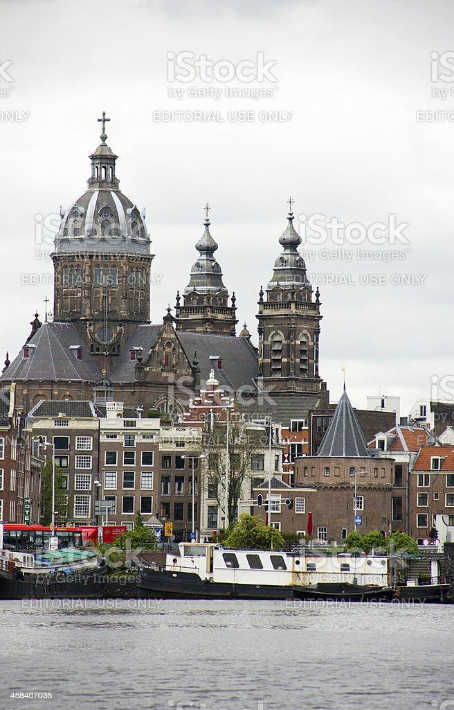 Church of Saint Nicholas in Amsterdam, Netherlands royalty-free stock photo