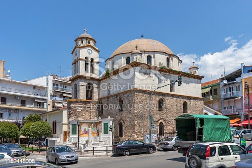 istock Church of Saint Nicholas in old town of Kavala, Greece 1182448008