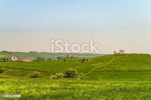 Church of Saint Nicholas on Green meadow. Kamenka village, Lipetsk Region, Russia. 1784 year of construction.