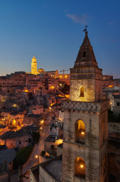Church of Saint Peter Barisano at Matera stock photo