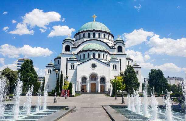 Church of Saint Sava in Belgrade, Serbia Church of Saint Sava in Belgrade, Serbia, one of the largest Orthodox churches in the world belgrade serbia stock pictures, royalty-free photos & images