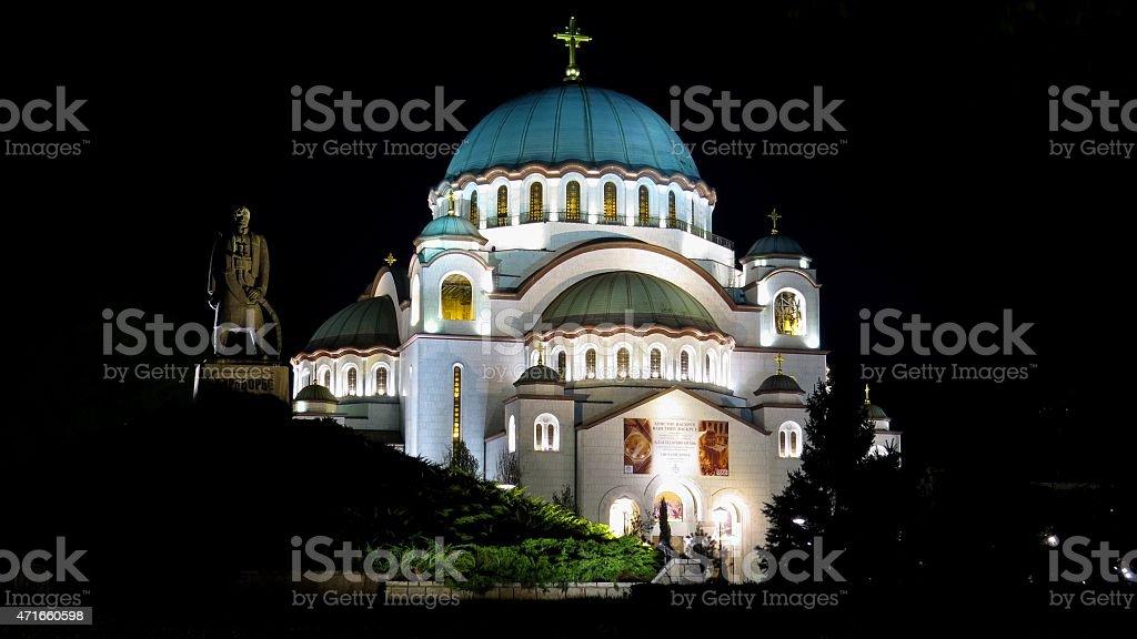 Church of Saint Sava stock photo