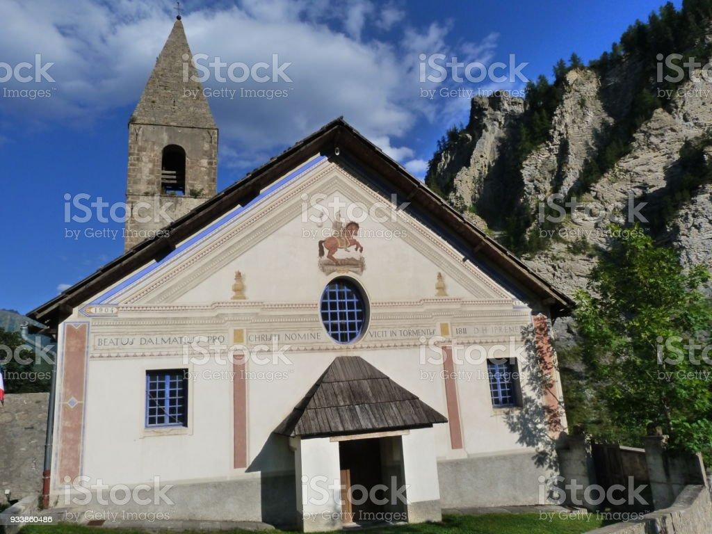 Church of Saint-Dalmas-Le-Selvage, Alpes-Maritimes stock photo