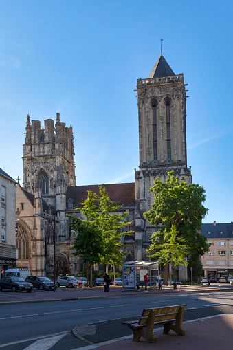 Church Of Saintjean In Caen Stock Photo - Download Image Now