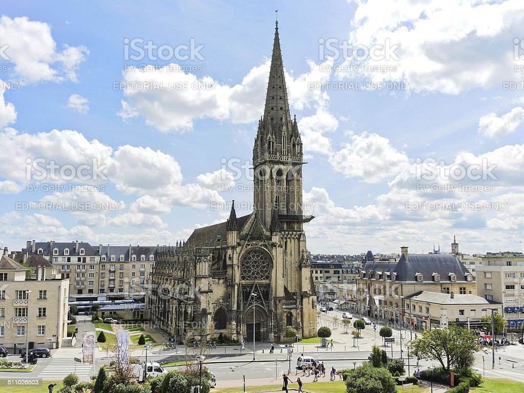 Church of Saint-Pierre in Caen city, France stock photo