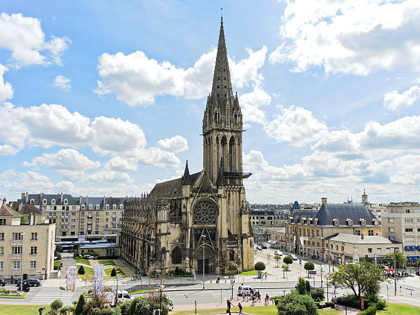 church of saint-pierre in caen city, france - caen stock pictures, royalty-free photos & images