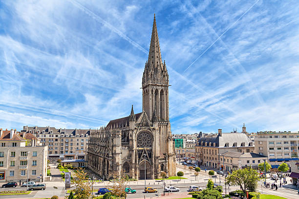 church of saint-pierre in caen, normandy - caen stock pictures, royalty-free photos & images