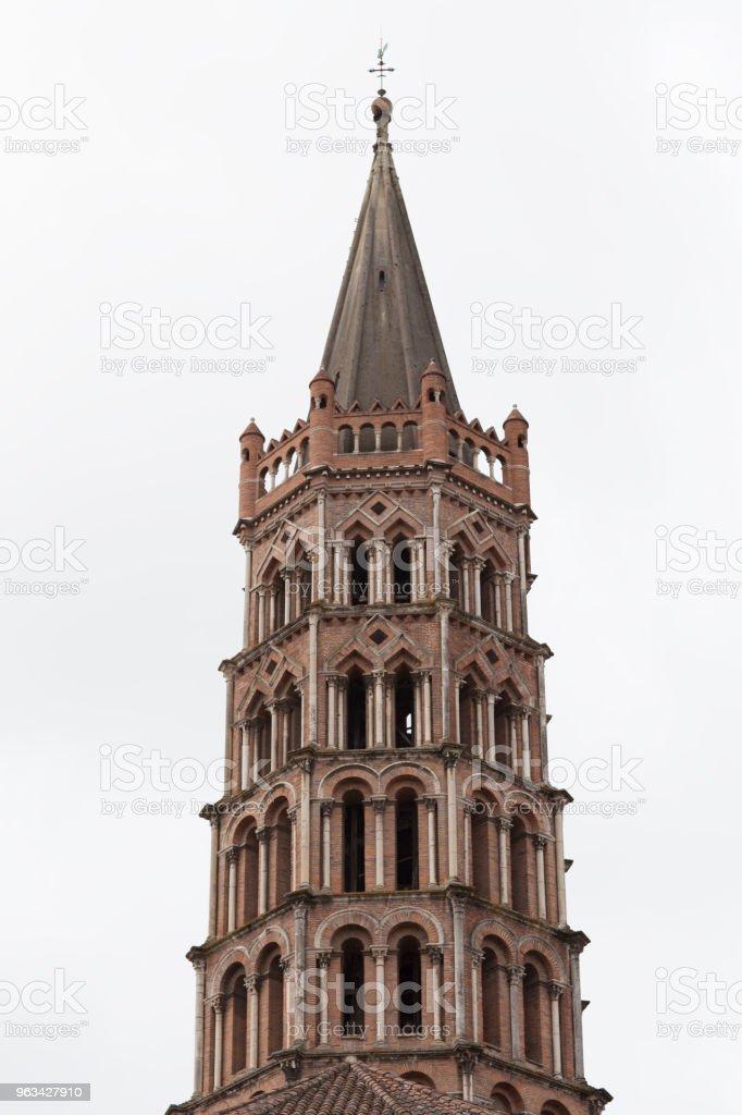 Kościół Saint-Sernin Tower - Zbiór zdjęć royalty-free (Architektura)