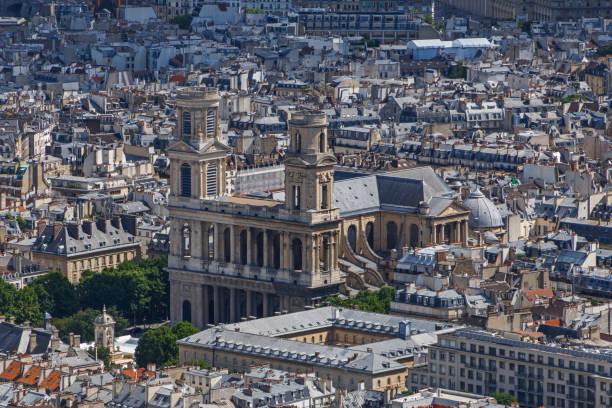 kirche saint-sulpice in paris - römisch 6 stock-fotos und bilder