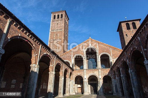 San Ambrogio patron of the city of Milan in the basilica located in the city center