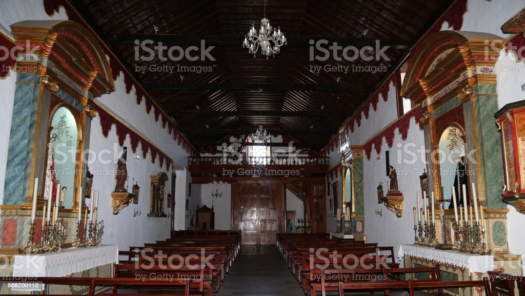 Church of San Antonio Abad stock photo