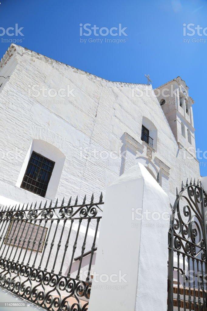 Church of San Antonio Frigiliana, Spain stock photo
