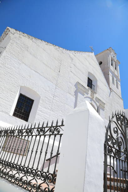 church of san antonio frigiliana, spain - pejft stock photos and pictures